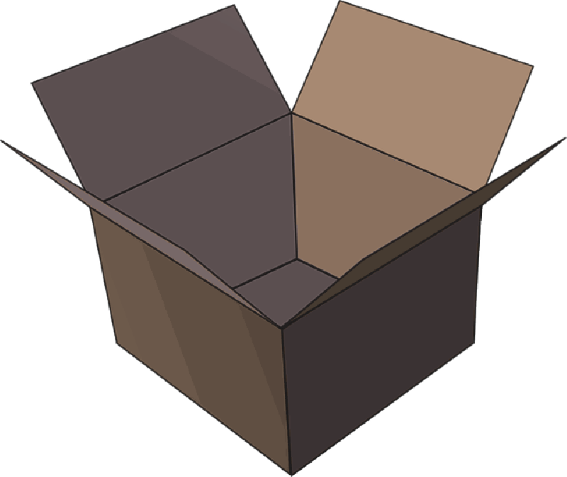 Empty box png. Package image icon free