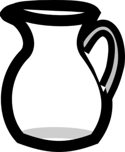 Empty clip. Pitcher of water clipart