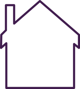 Purple house art at. Empty clip picture royalty free download
