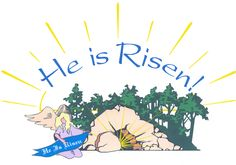 Empty tomb clipart palm sunday. Easter of jesus resurrection