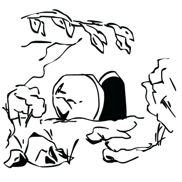 Empty Tomb Coloring Page (Free Kids Printable) | 585x585