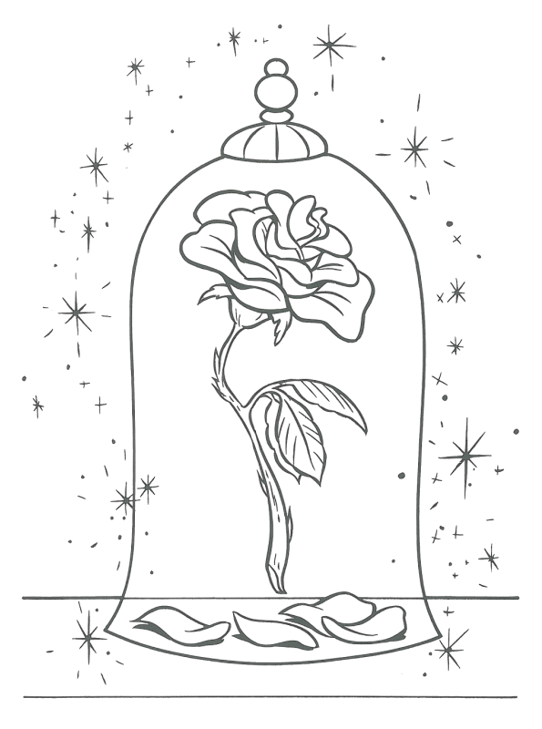 Enchanted drawing disney. Png coloring pages