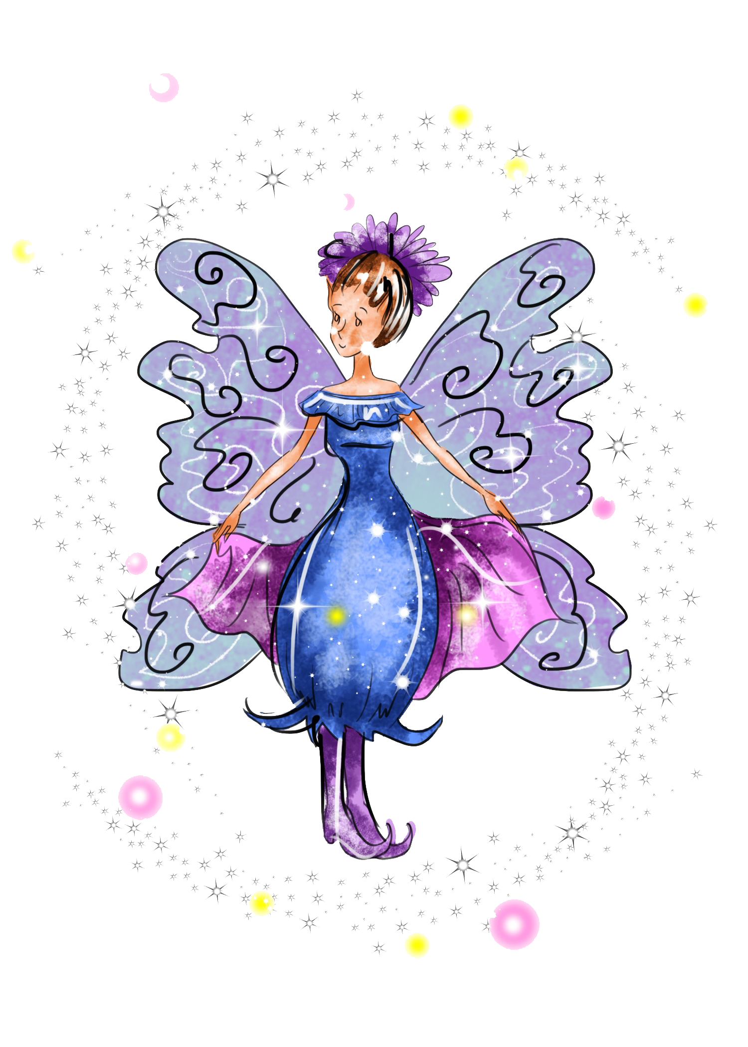 Enchanted drawing faery. Esme the forest fairy