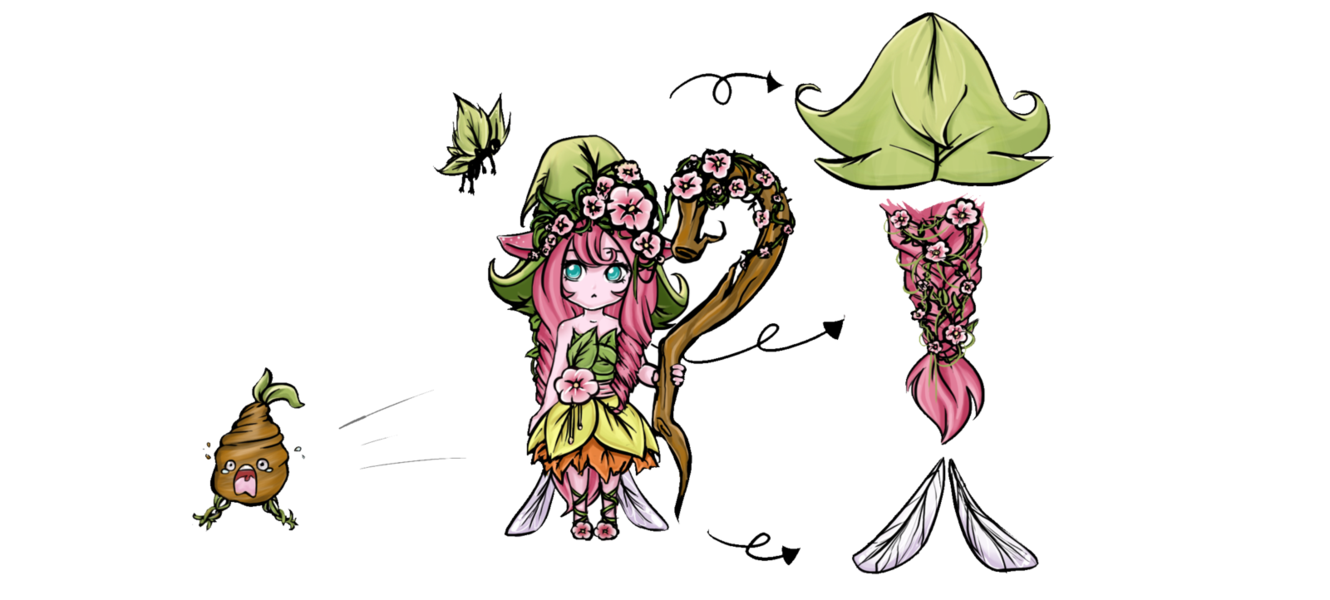 Enchanted drawing nature. Lulu by shourei on