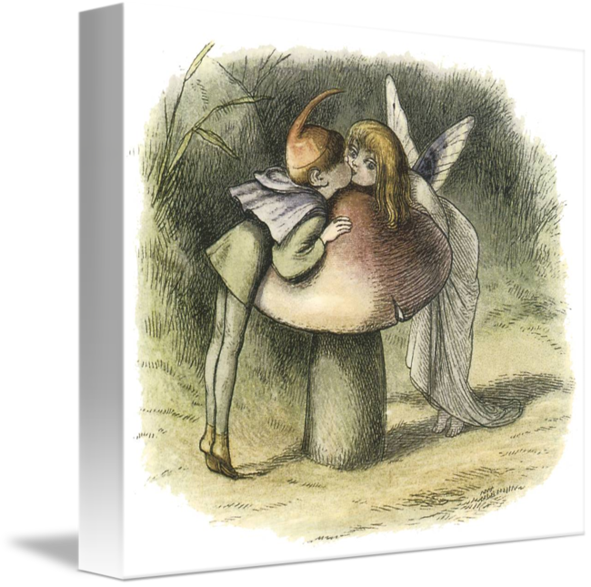 Enchanted drawing whimsical. In fairyland a fairy