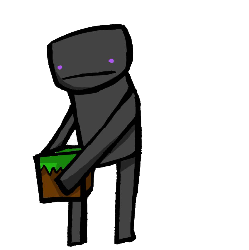 enderman drawing irl