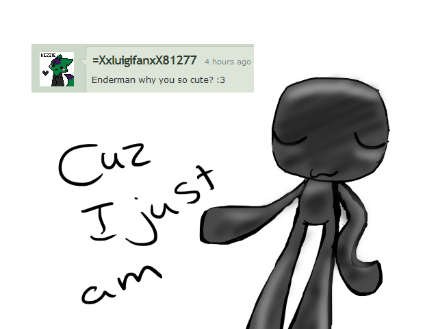 Enderman drawing adorable. Q by ask on