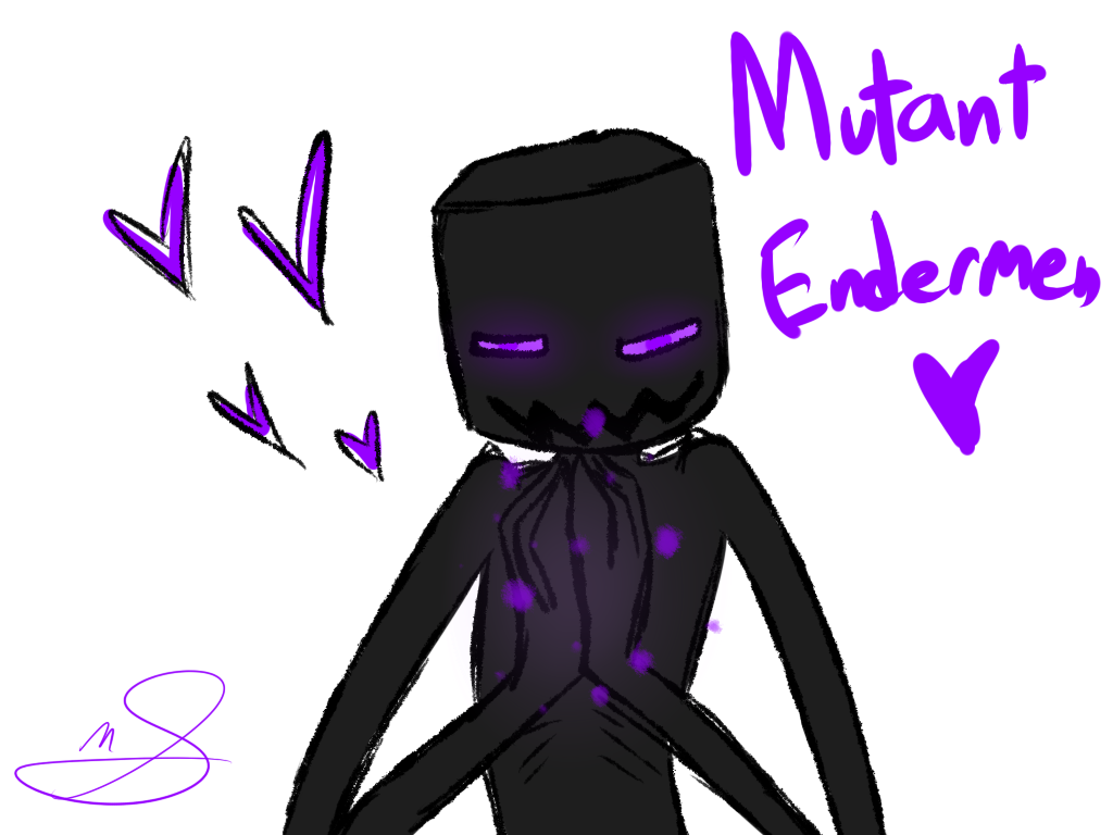 Enderman drawing badass. Mutant endermen fan art