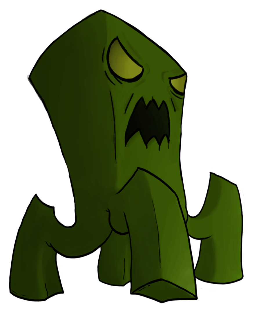Enderman drawing creeper. Minecraft transprent png free