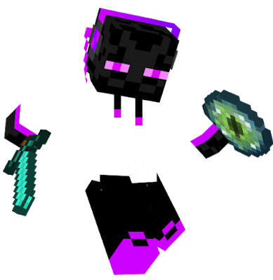 Enderman drawing purple. Nova skin