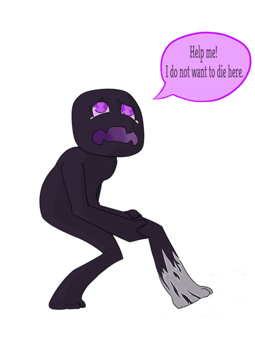 Enderman drawing demon. Ender scorpio tumblr caught