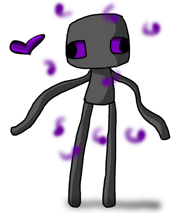 Enderman drawing happy. Enderbro by ask on