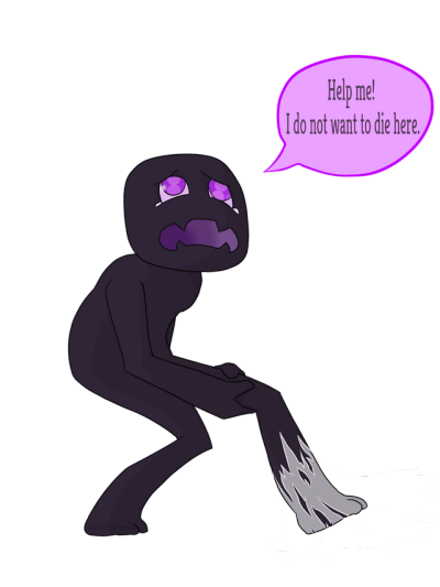Enderman drawing scary. Cute tumblr caught