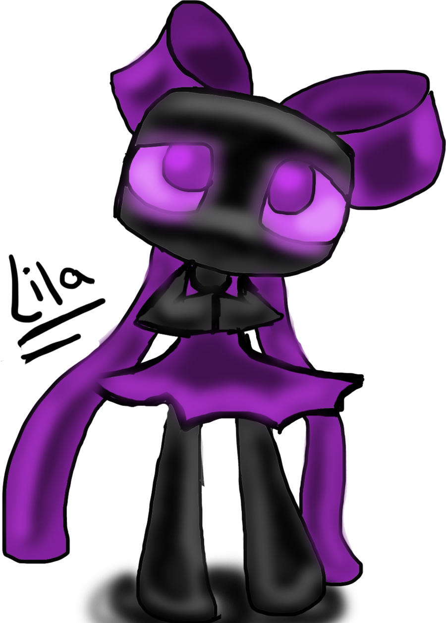 Enderman drawing headphone. Lila by ask on