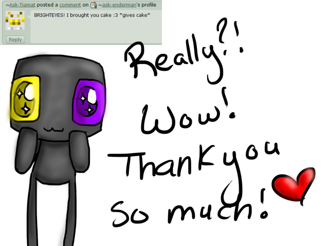 Enderman drawing scary. Q by ask on
