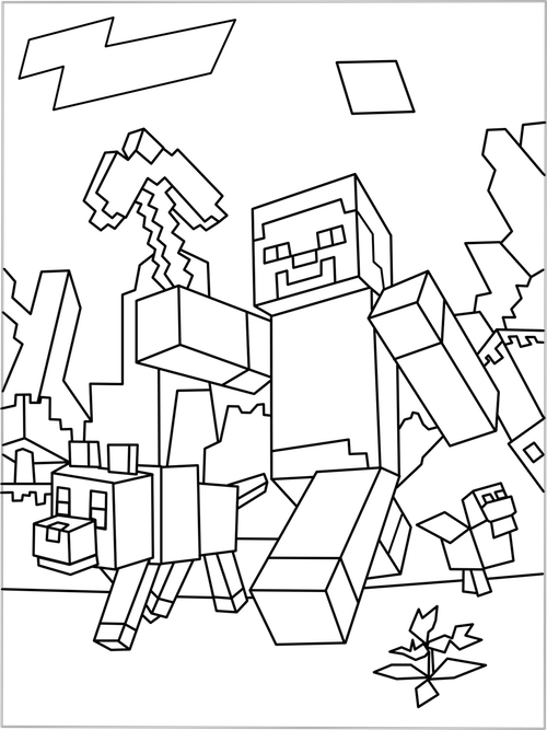 Enderman drawing minecraft coloring page. Printable world pinterest