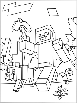 Enderman drawing minecraft coloring page. Free coloringpages with finally