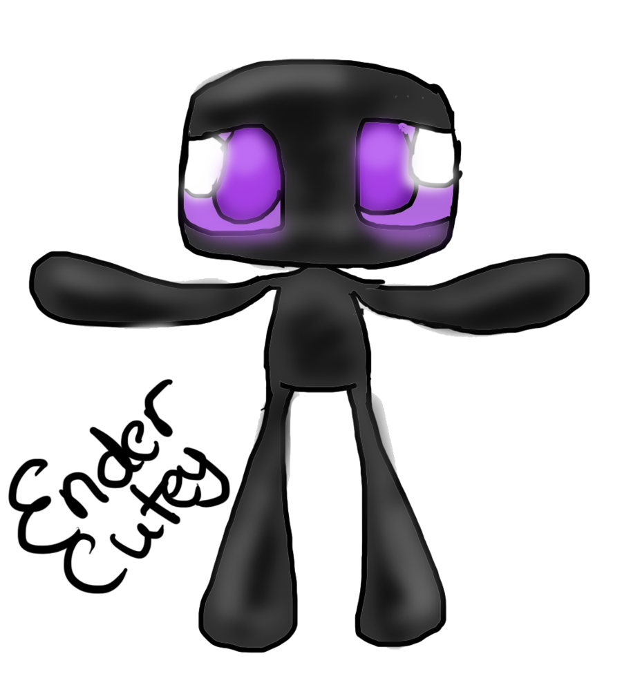 Enderman drawing monsters. Minecraft vector huge