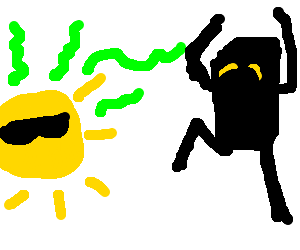 Enderman drawing scary. The sun s stank