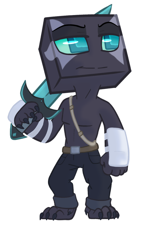 Enderman drawing shaden. Askroddcreeper yay another gift