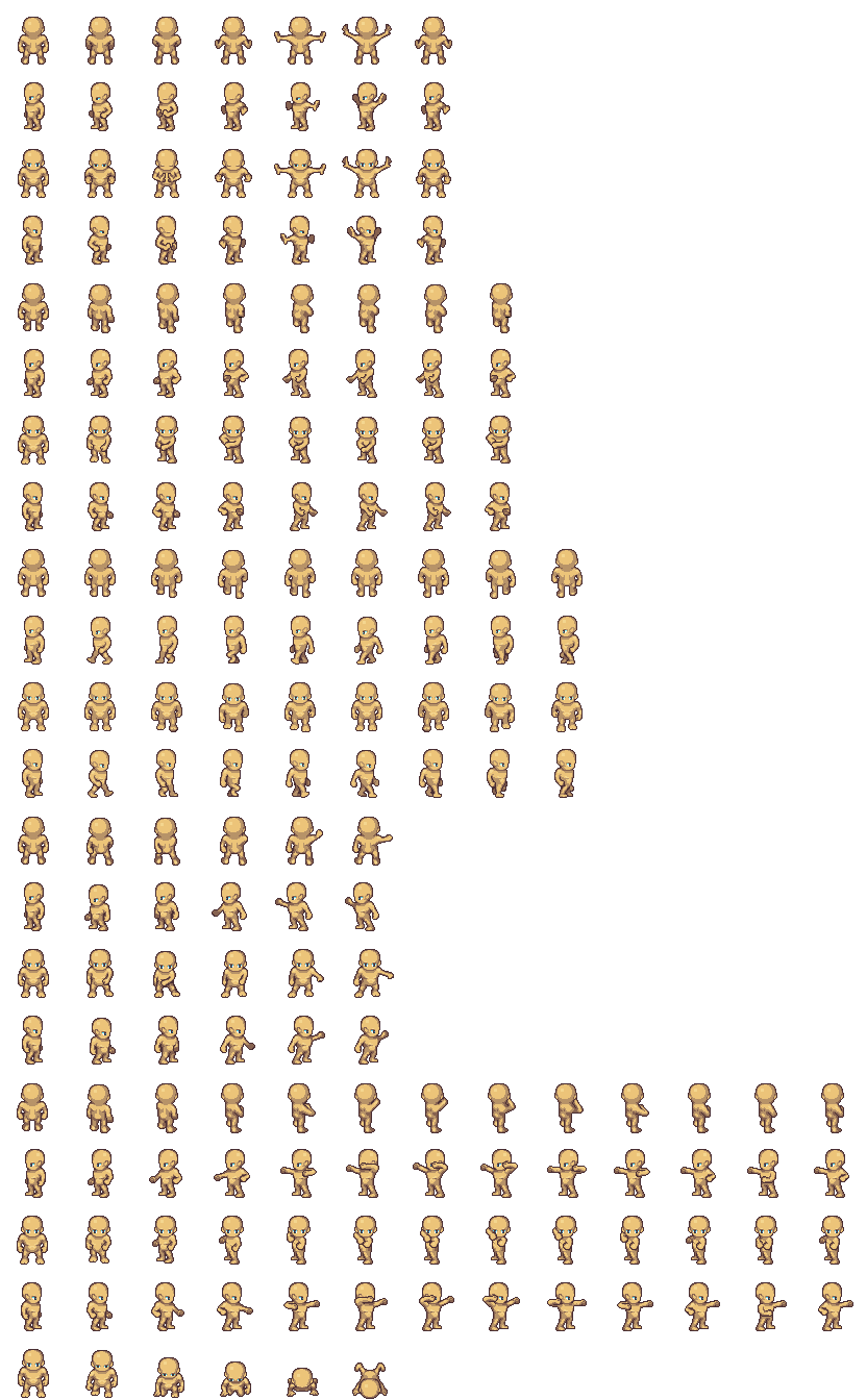 Enemy sprite png orc. Lpc male sheets opengameart