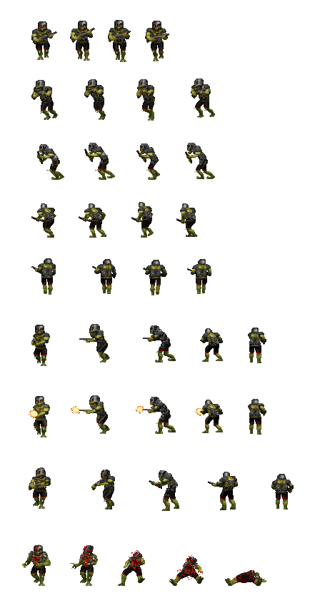 Enemy sprite png orc. Zdoom view topic sprites