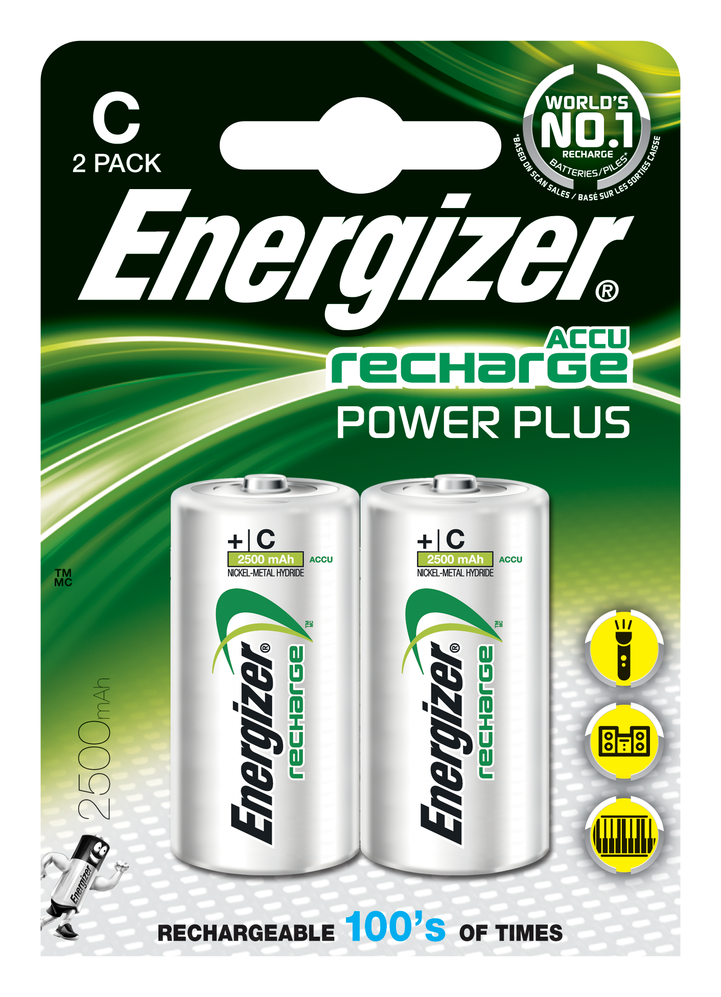 Energizer battery png. Rechargeable c lr mn