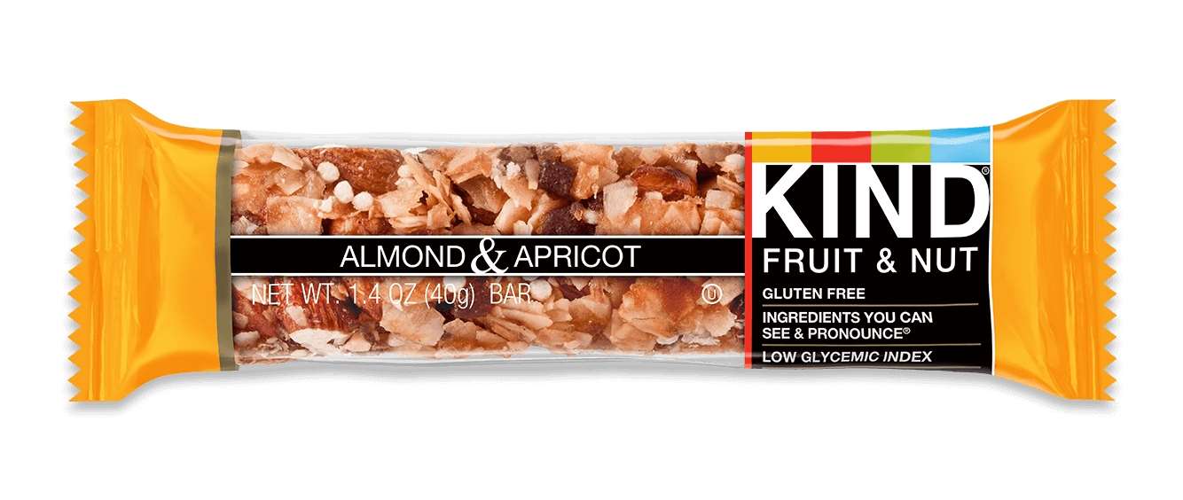 Energy bar png. Kind almond and apricot