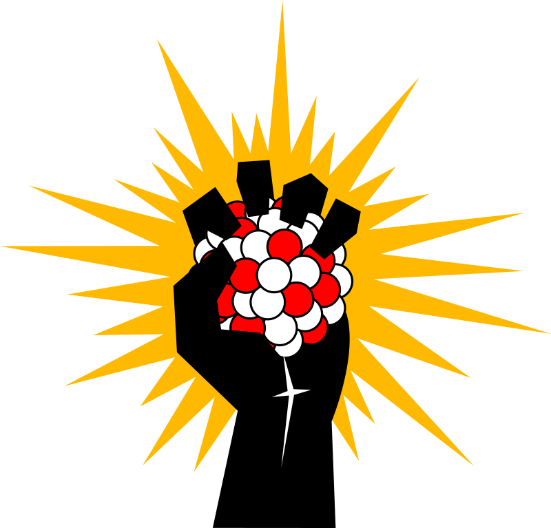 Energy clipart atomic energy. Fist medium image png