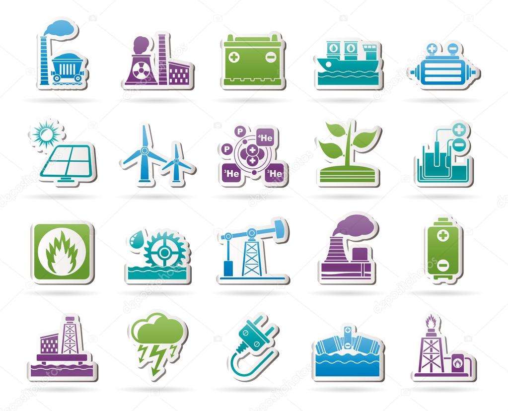 Energy clipart energy source. Electricity and icons stock