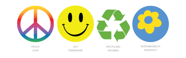 Sustainability symbol energy movement. World clipart happy world banner library
