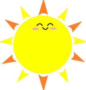Transparent sunshine happy