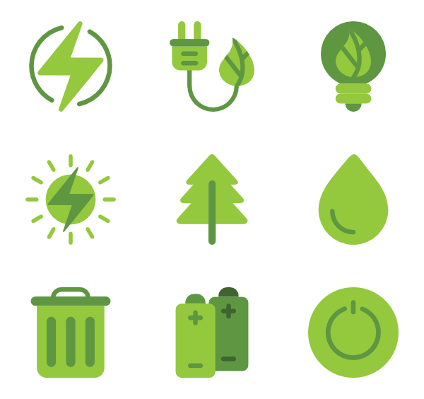 green energy icon. Greenery vector svg image black and white download
