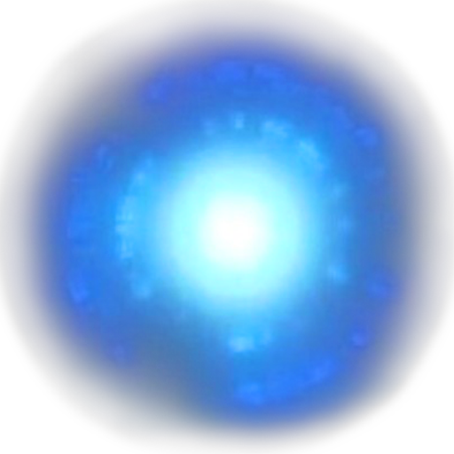 Energy transparent avatar. Blue id posted by