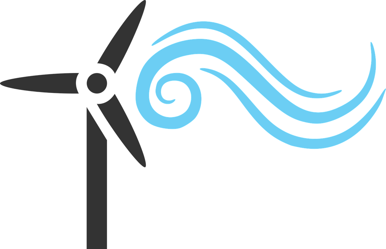 vector windmill solar panel