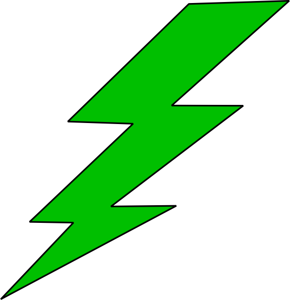 Energy transparent lightning bolt. Collection of free energies