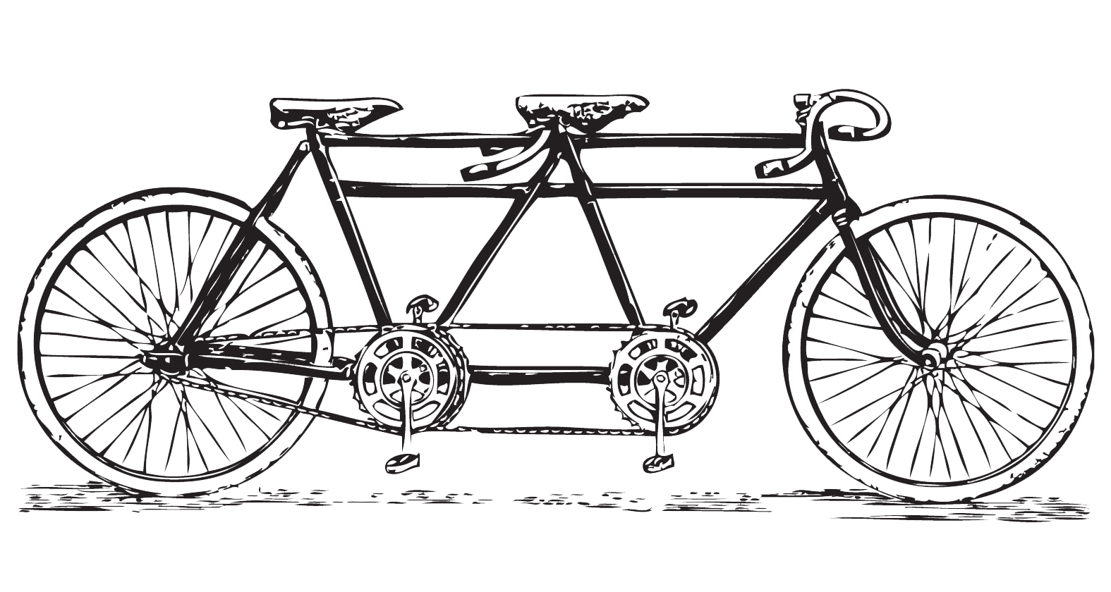 Free vintage tandem bicycle. Cycle clipart antique bike clipart free stock