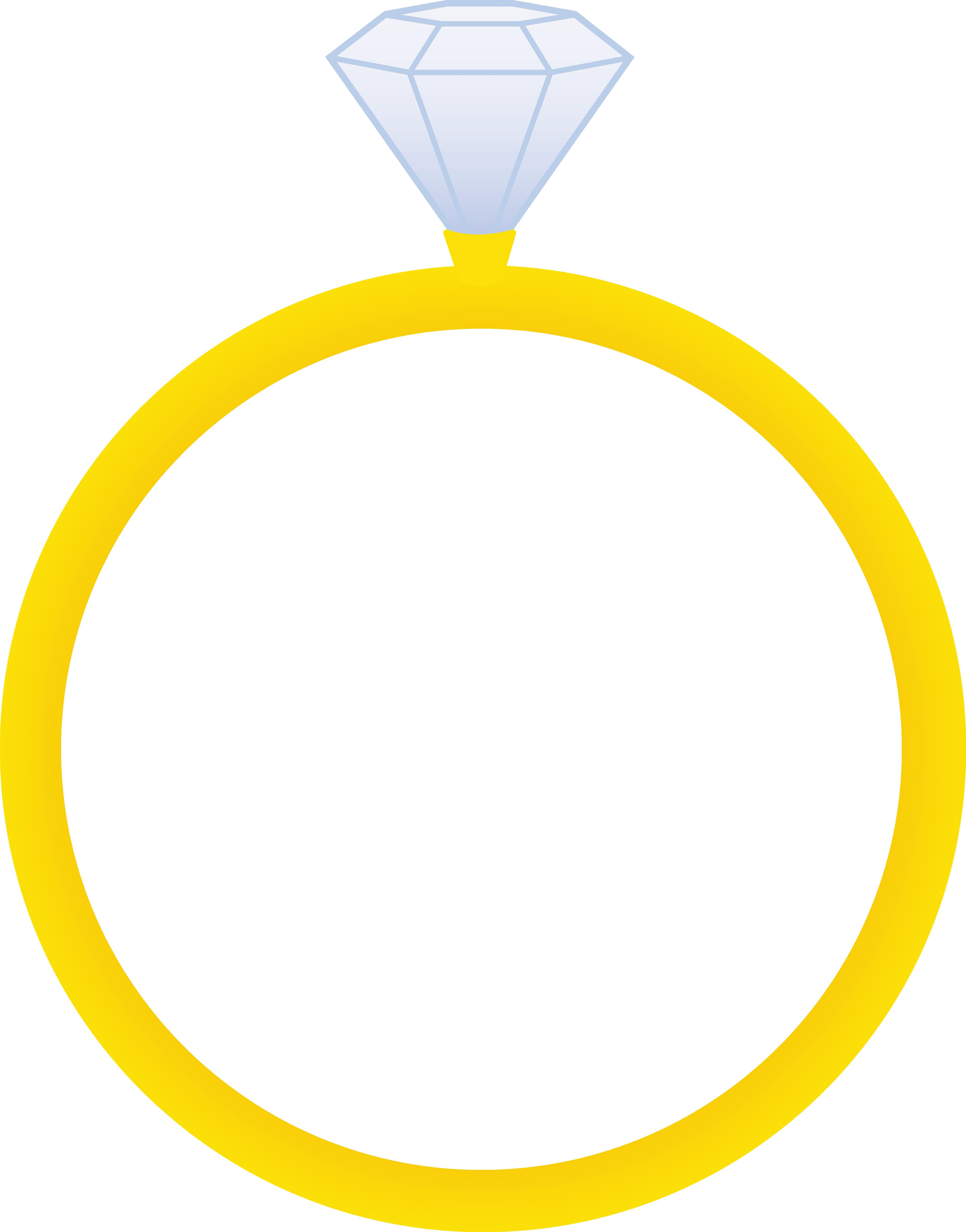 Ring clipart dimond ring. Engagement silhouette at getdrawings