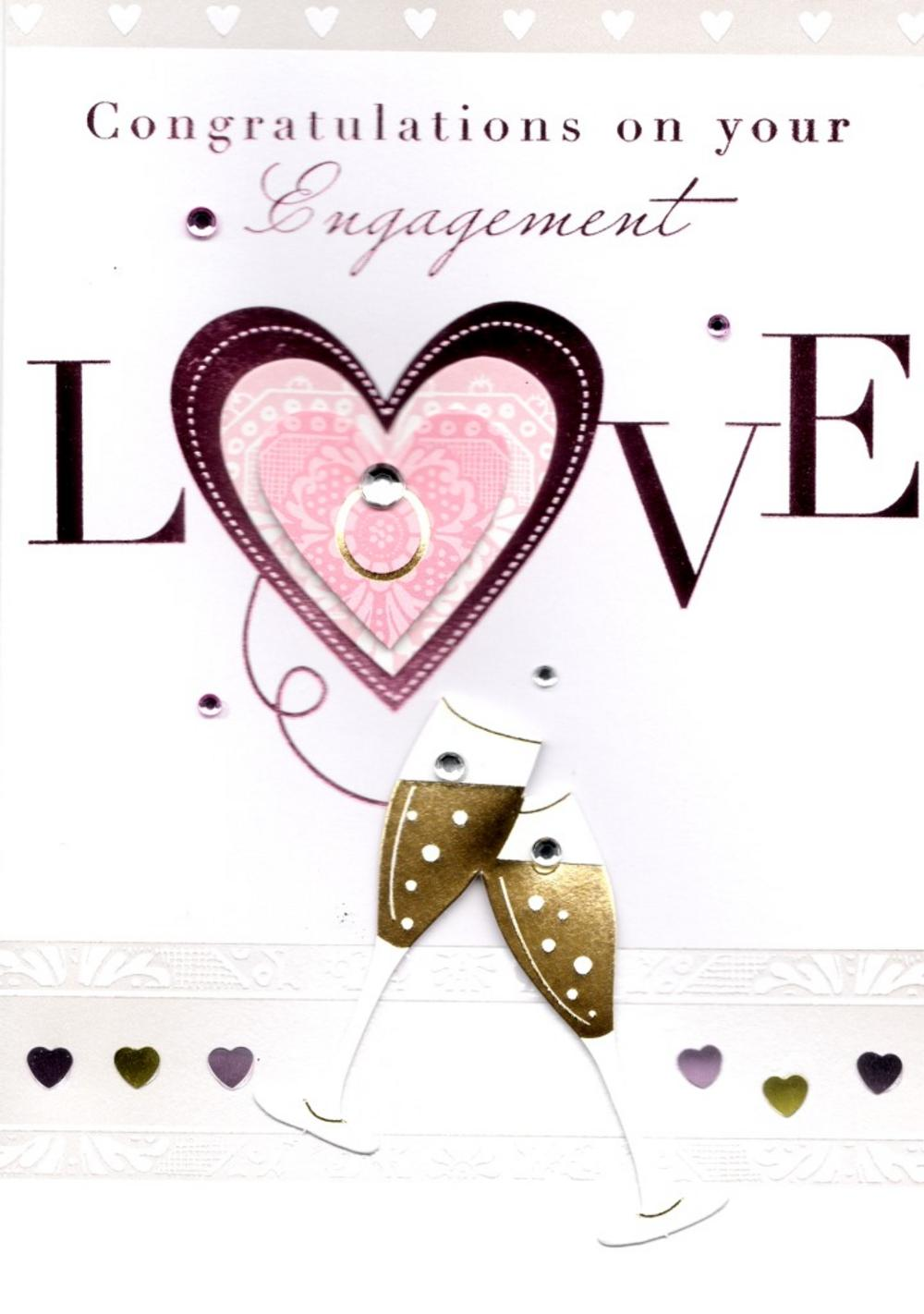 Engagement clipart engagement card. Congratulations on your greeting