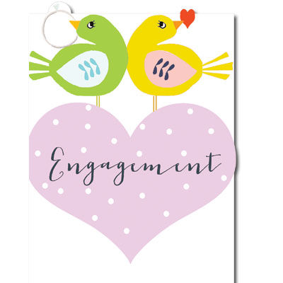 Engagement clipart engagement card. Birds and ring karenza
