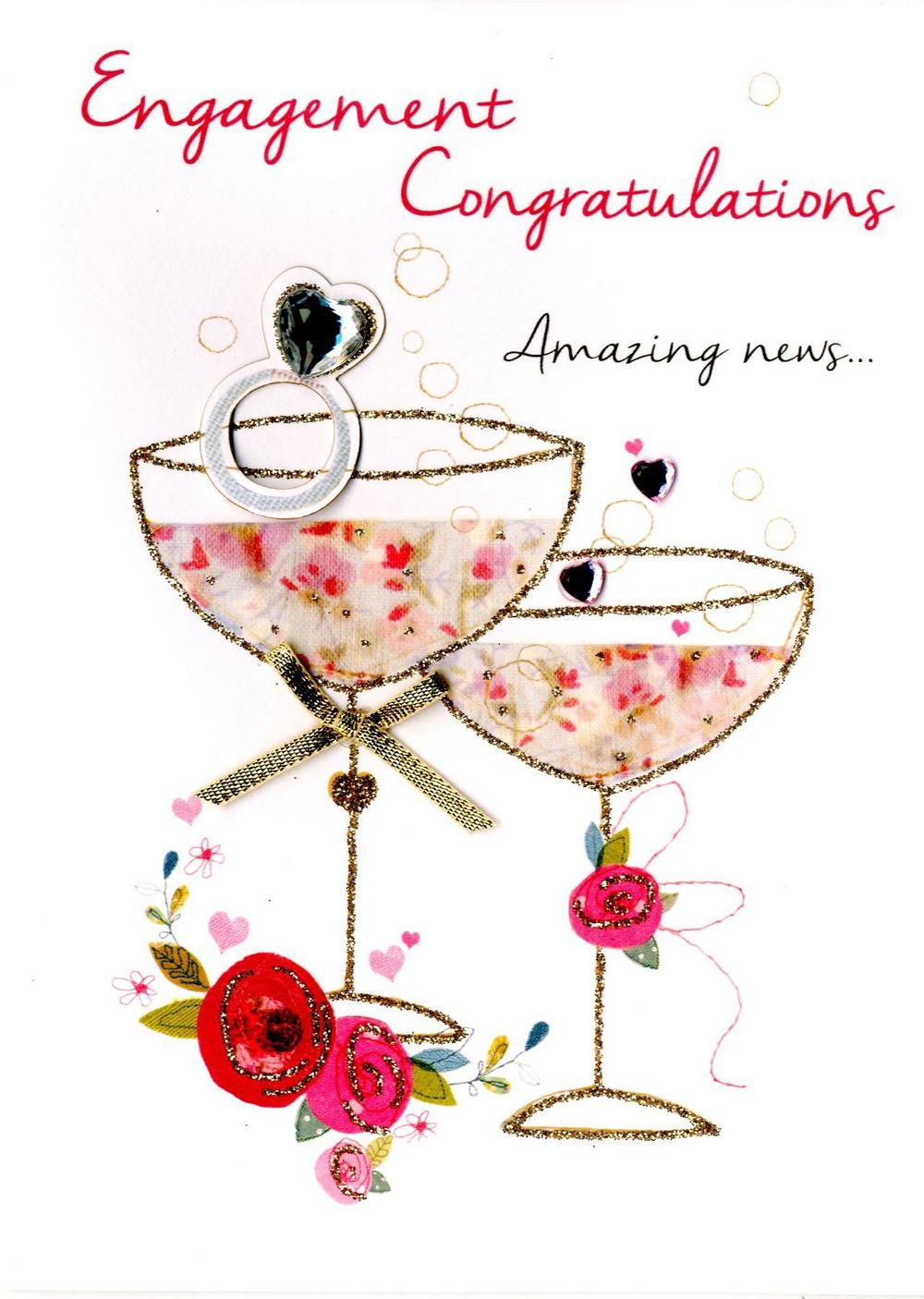 Engagement clipart engagement card. Congratulations greeting cards love
