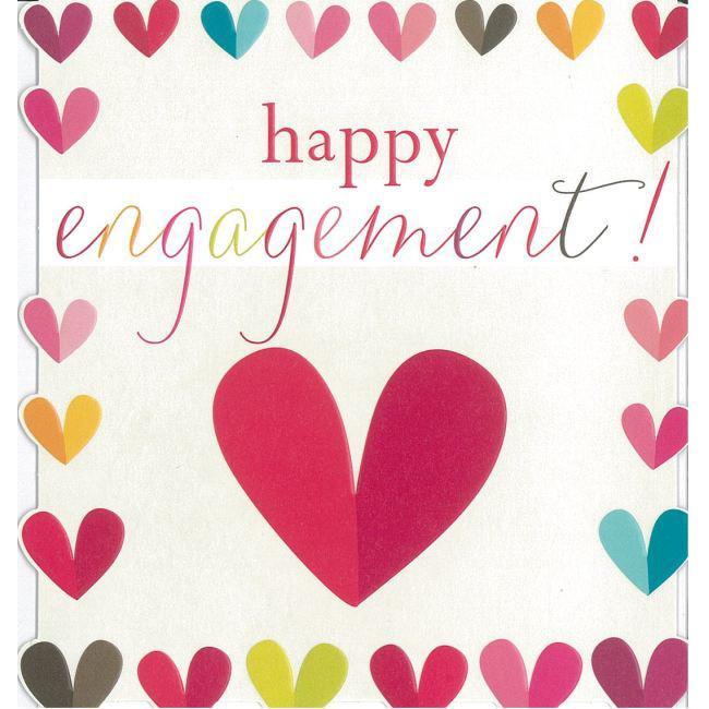 Engagement clipart engagement card. Happy hearts greeting citywide