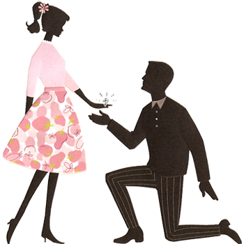 engagement clipart marriage proposal
