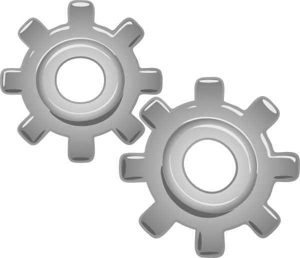 Engine clipart. Gears motion motor clip vector freeuse library