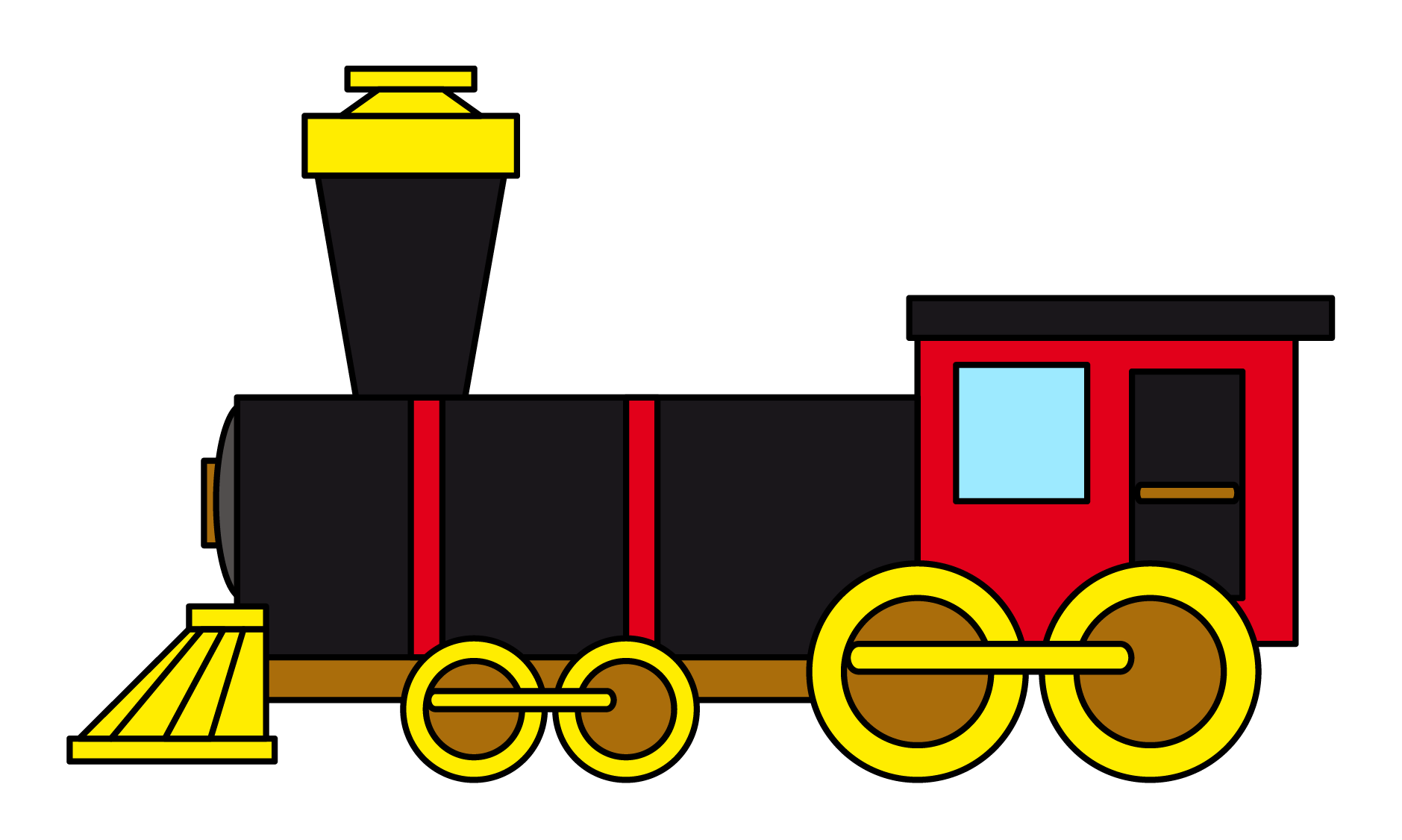 vector trains childrens