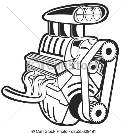 Engine clipart. Vector illustration of the svg black and white download