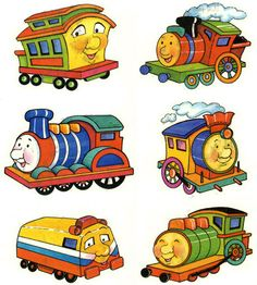 Engine clipart kid. Cartoon train with driver