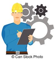 Engine clipart manufacturing engineering. Engineer illustrations and checking png free