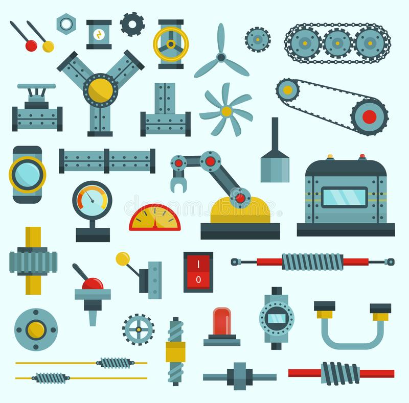 Machine parts vector illustration. Engine clipart manufacturing engineering png download