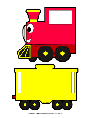 engine clipart red train